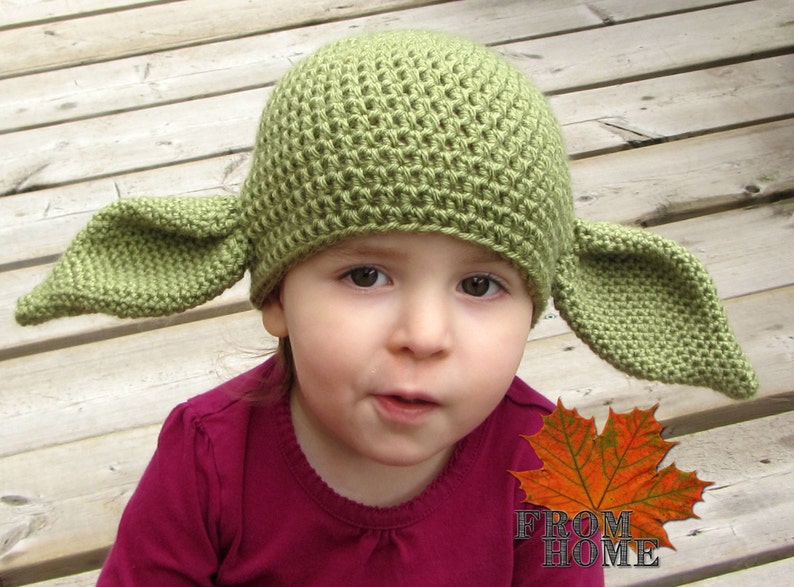 Yoda   Dobby the House Elf Crochet Hat Baby Toddler Child Adult  9c921e83a0b