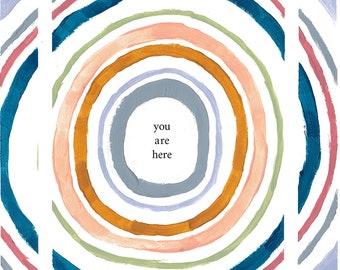 you are here — giclée art print