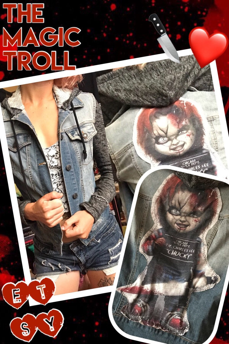 11dcc5f1c1 ChUcKy cHiLdS pLaY Jean Hoodie Jacket Small