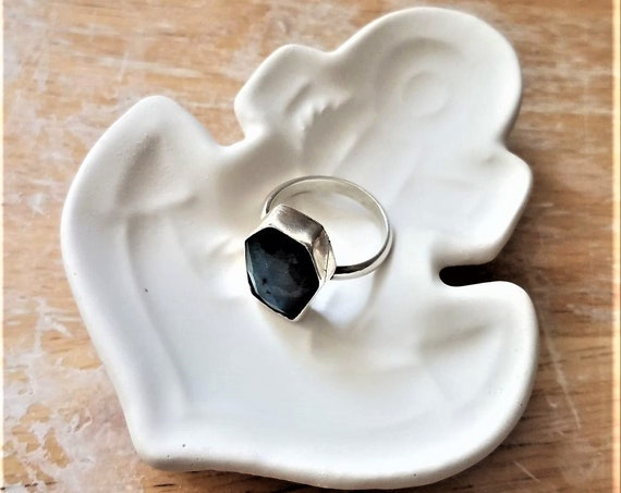 Anchor ring dish, nautical tray, trinket dish, geometric dish, wedding ring holder, fidelity symbol, hope, strength, stocking stuffer