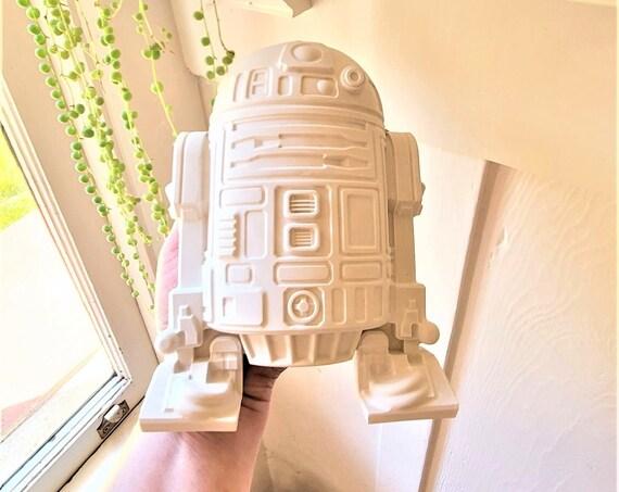 R2D2 sculpture, wall hanging star wars art, star wars planter, droid art, geek gift, star wars nerd gift