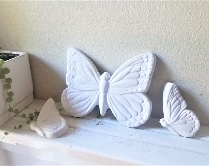 Butterfly wall decor, butterfly wall sculptures, cluster of butterflies, butterfly gift, retro butterfly art