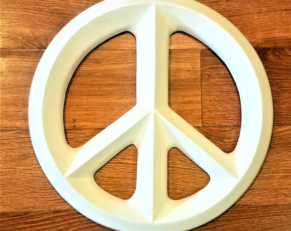 Peace sign, wall hanging peace sign, large peace symbol, bohemian decor, peace and love, make love not war