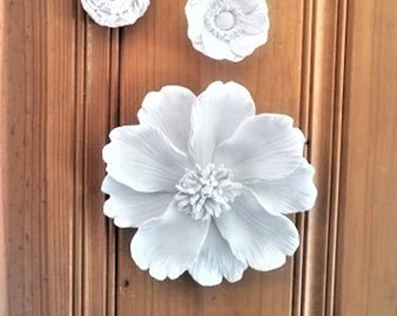 Flower sculpture, wall hanging flower, handmade flower sculpture, Cosmo, bohemian floral wall decor, modern floral
