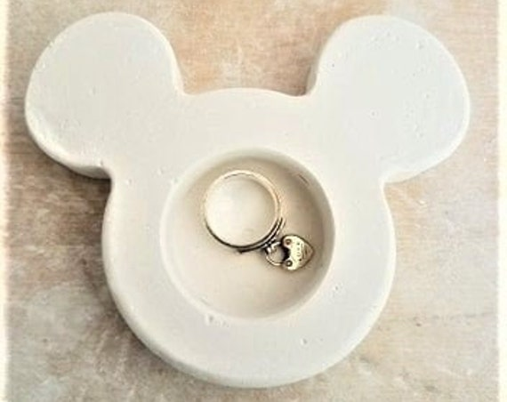Mickey Mouse shaped dish, ring dish, candle holder, trinket dish, tea light holder