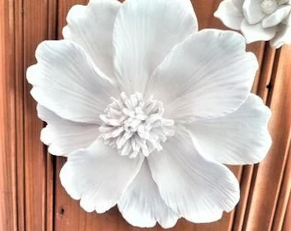 Wall hanging flower, large handmade flower sculpture, Cosmo, bohemian floral wall decor, modern floral