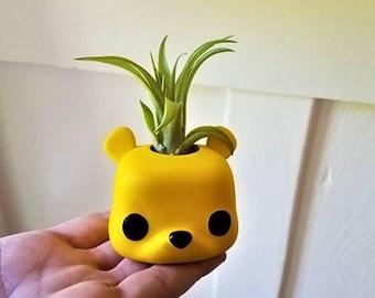Winnie the Pooh planter, Funko pop inspired air plant holder, Pooh bear nursery decor