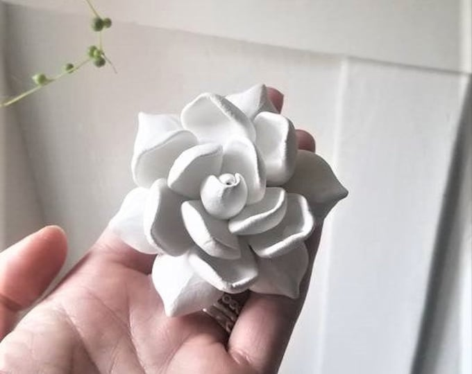 Gardenia wall flower, wall hanging flower sculptures, floral decor, Spring florals, Gardenia gift, Mothers day
