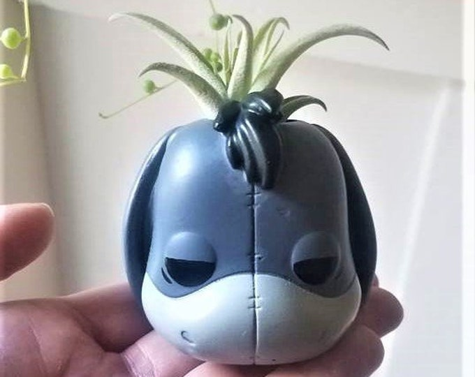 Eeyore gift, air plant holder, Valentine pooh gift, planter gift set, small desk planter, character air plant holder