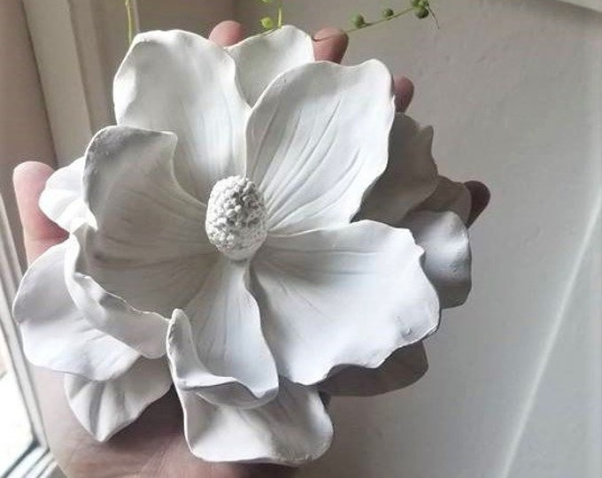 Floral wall decor,  realistic wall flowers, Valentines day flowers, Magnolia wall flowers, garden nursery decor, big flowers