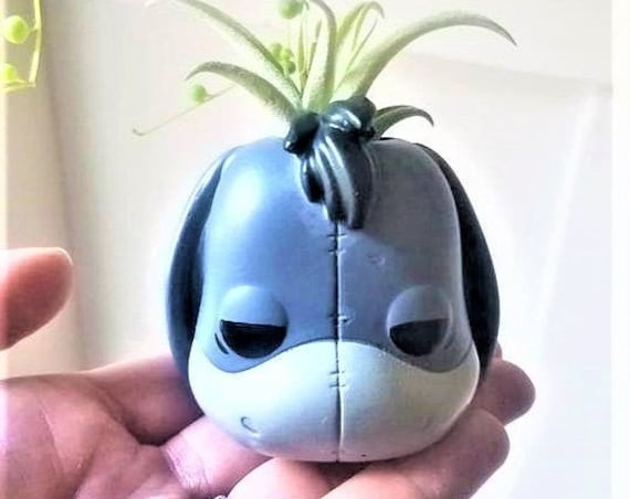 Eeyore gift, air plant holder, pooh gift, planter gift set, small desk planter, character air plant holder