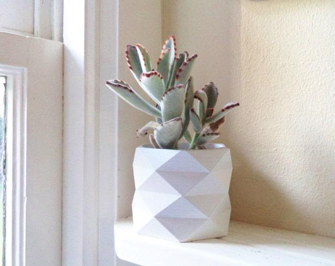 "Geometric planter, 3"" planter, hexagon, succulent planter, cactus pot"
