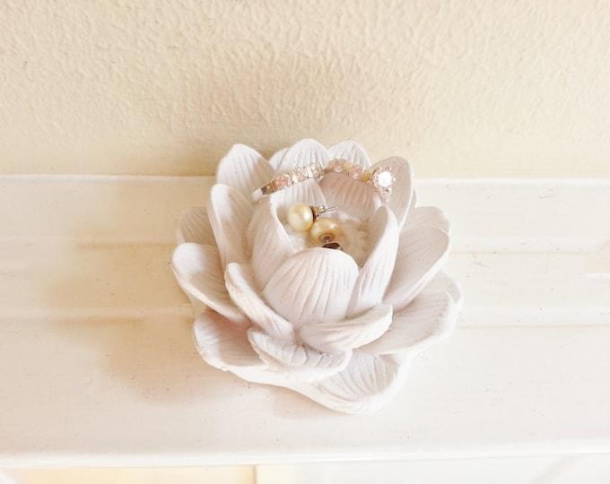 Lotus flower ring dish, bridesmaids gifts, lotus flower dish, boheme