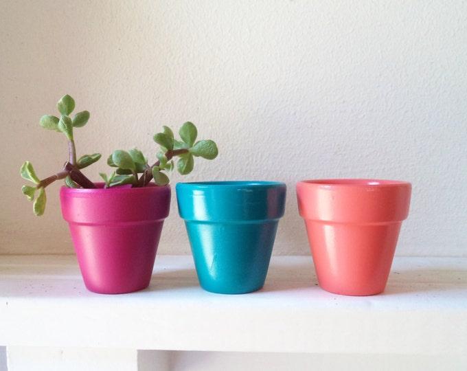 """Mini planters, 2"""" succulent pots, window planters, wedding favor planters, Fresh for Spring"""