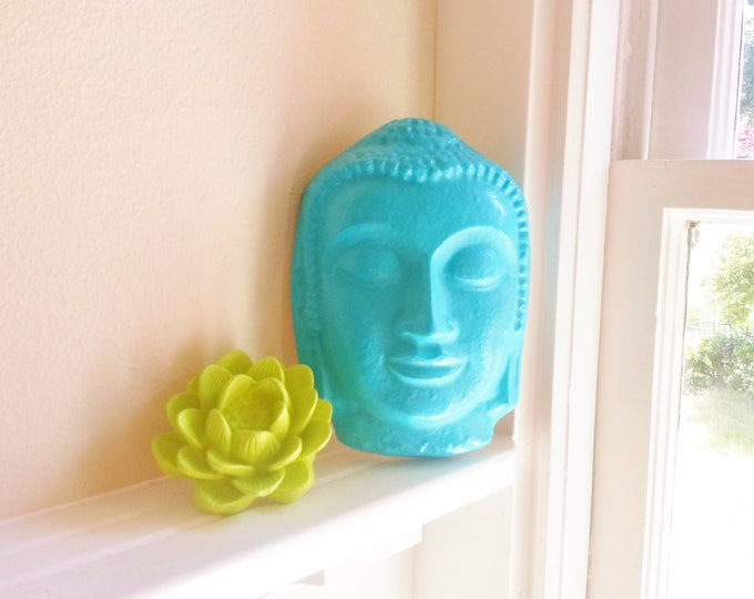 Buddha with lotus flower, Buddha gift, wedding gift, housewarming gift, zen decor, wall hanging Buddha