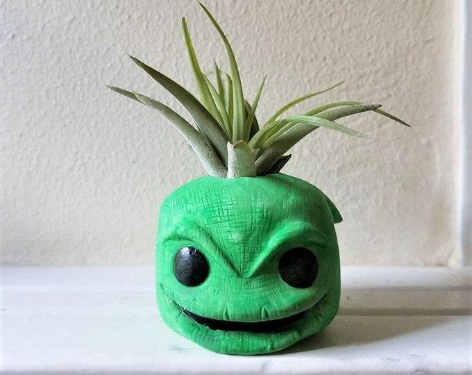 Oogie Boogie gift, air plant gift set, villain, desk planter, Halloween gift