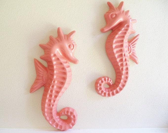 """Seahorse wall decor, nautical art, decor from the set of """"Grace and Frankie"""", large seahorse sculptures"""