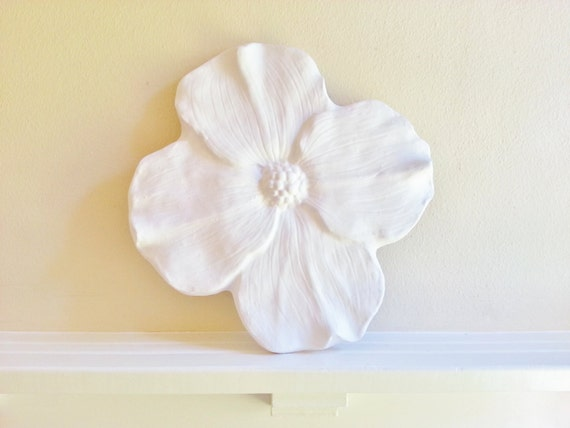 Dogwood flower wall sculpture, modern floral art, large wall flowers