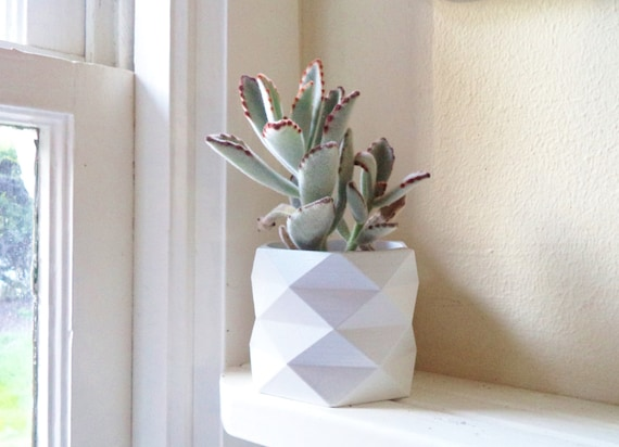 "Geometric planter, 3"" planter, hexagon, succulent planter, cactus pot"