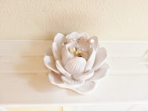 Lotus flower ring dish, bridesmaids gifts, lotus flower dish, boheme
