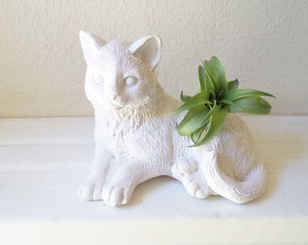 Cat planter with plant, gift for cat lover, creepy cat lady gift, black cat