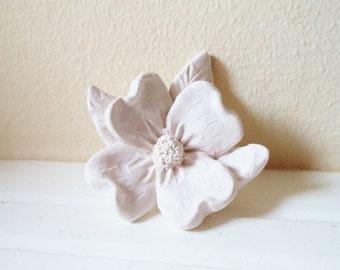 Dogwood wall flower sculpture, small flower sculpture