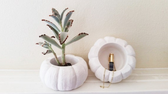 Pumpkin planter, pumpkin dish, pumpkin candle holder, ring dish, candy dish