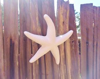 Starfish wall sculpture, beach house decor, nautical wedding favors, sea shell bathroom decor