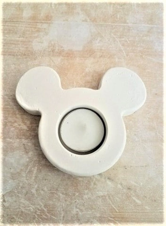 Mickey Mouse shaped tea light holder, ring dish, candle holder, trinket dish, tea light holder