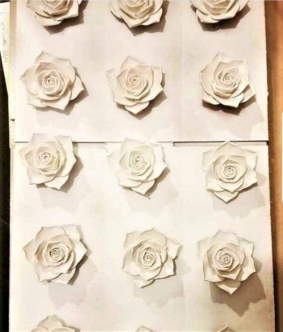 Collection of wall hanging roses,  rose sculptures, rose gift, wall flowers, floral wall decor, garden nursery, Mothers day