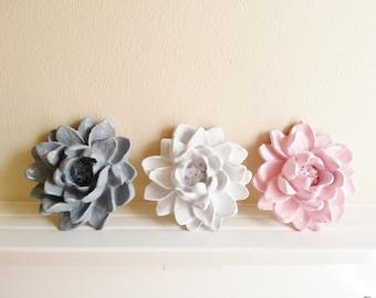 Lotus flower wall sculpture, wedding table decor