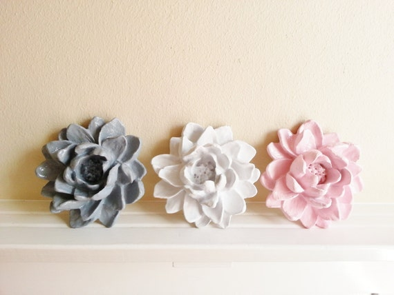 Lotus flower sculpture, wall hanging Lotus blossom, water lily, floral decor, lotus gift