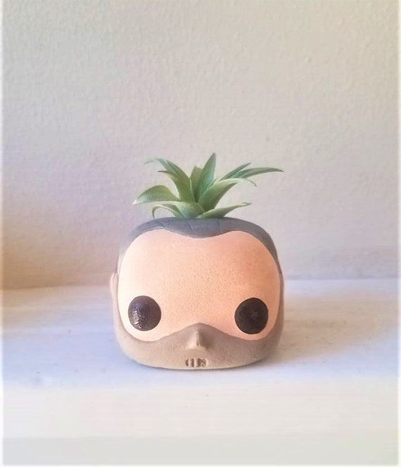 Hannibal Lecter Funko Pop inspired air plant holder, Horror movies, Scary movie gift, silence of the lambs