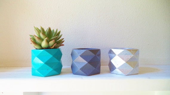 Geometric mini planters, planter gift set, air plant holder