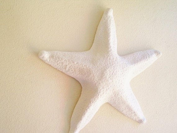 Large starfish wall hanging sculpture, large sea shell beach decor, As seen on Netflix series Grace and Frankie