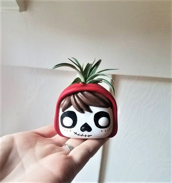 Coco Miguel planter, air plant holder, Day of the Dead, dia de los muertos, Funko Pop inspired sculpture