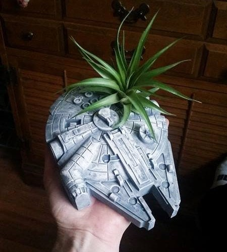 Millennium Falcon Planter Desk Planter Space Ship Star Wars