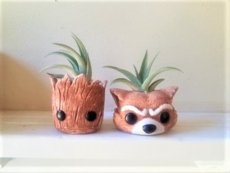 Groot planter set air plant holders baby Groot Rocket the image 0