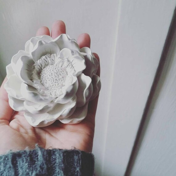 Magnolia blossom wall hanging flower sculpture, bridal party gifts, floral decor, bridesmaids gifts, housewarming gift