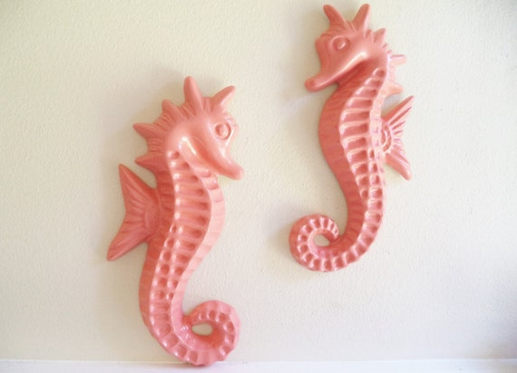 """Large seahorse wall decor, nautical art, decor from the set of """"Grace and Frankie"""",seahorse sculptures"""