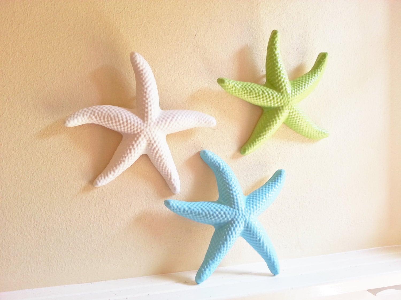Starfish Wall Decor Beach Decor Seashells Large Starfish Coastal
