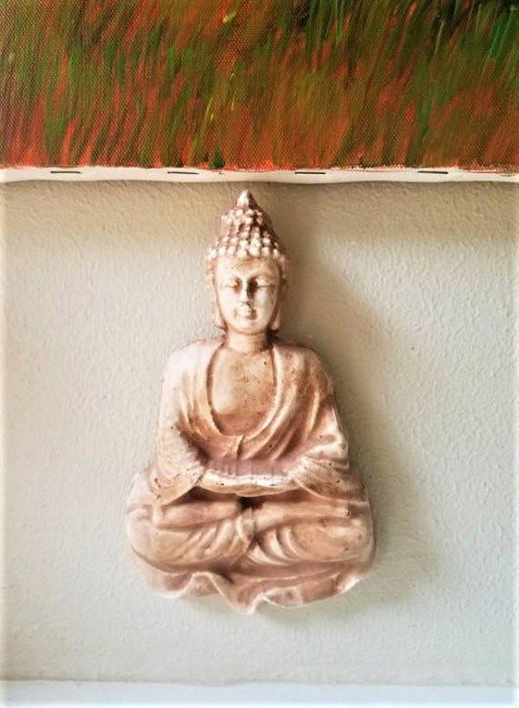 Buddha sculpture, wall hanging Thai Buddha sculpture, enlightenment, boheme