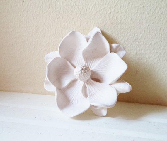 Magnolia flower wall flower, white modern minimalist decor
