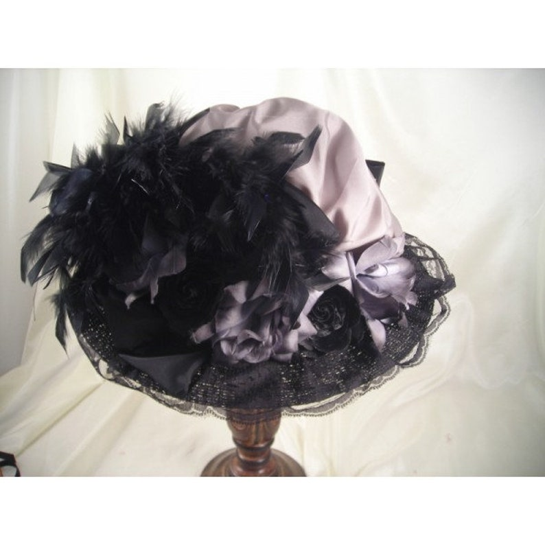 Steampunk Accessories | Goggles, Gears, Glasses, Guns, Mask     Victorian Hat Wide Brim Hat Victorian Costume Tea Party Hats Kentucky Derby Hat Black with Gray Feathers $89.00 AT vintagedancer.com