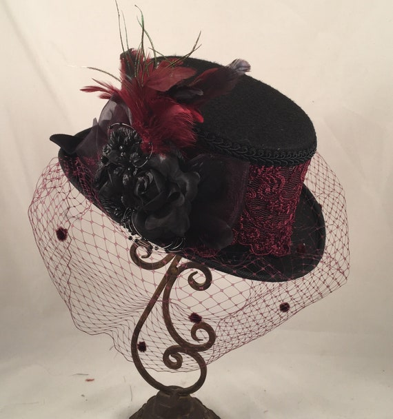 Victorian Top Hat Victorian Costume Tea Hat Tea Party Hats  16a336f6c7e