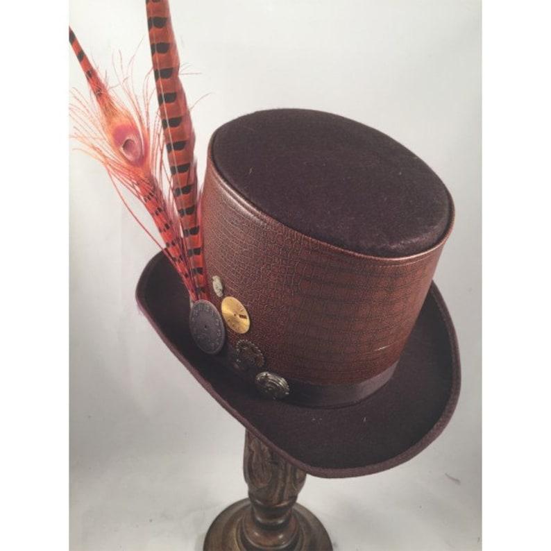 STEAMPUNK TOP HATS, Steampunk Store, Steampunk Emporium, Brown, Felt, Clock  Parts, Feathers