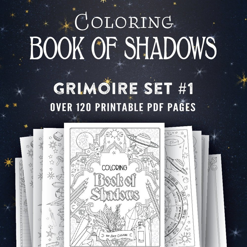 It's just an image of Vibrant Free Printable Grimoire Pages