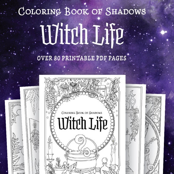 Coloring Book Of Shadows Witch Life Etsy