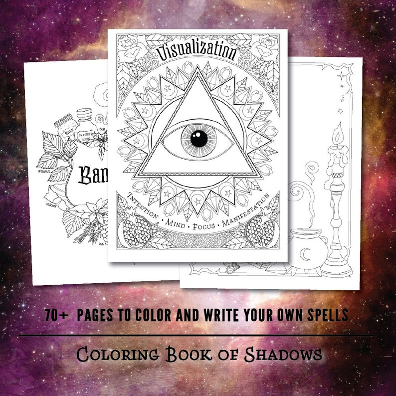 Coloring Book Of Shadows Book Of Spells Pdf