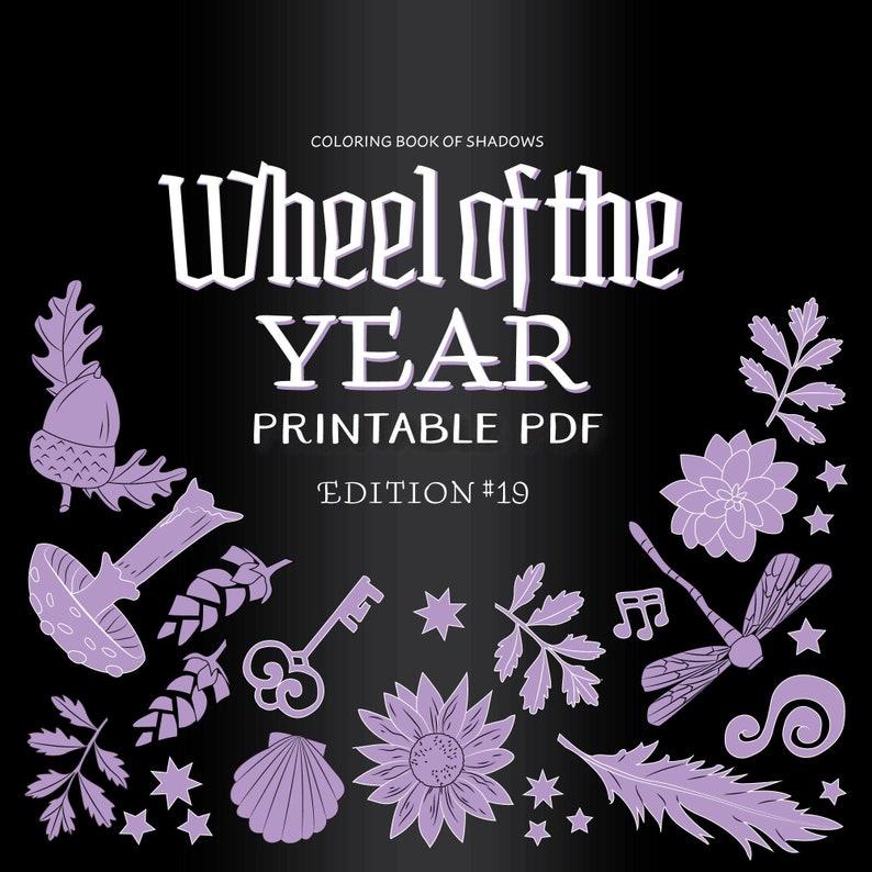 Wheel of the Year Printable PDF Grimoire image 0